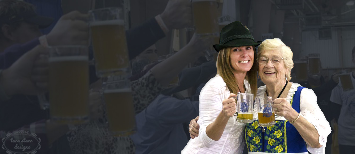 women enjoying beer at Carroll Oktoberfest