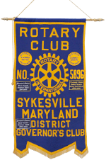 Rotary Club No. 5896         Sykesville Maryland District Governor's Club