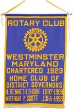 Rotary Club         Westminster Maryland Chartered 1923 Home Club of District Governors         H. Kenneth Shook 1997-1998 Arthur P. Scott 1955-1956