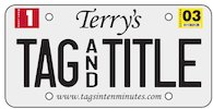 Terry's Tag And Title www.tagsintenminutes.com