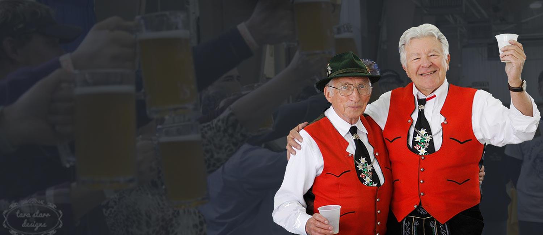 men enjoying beer at Carroll Oktoberfest