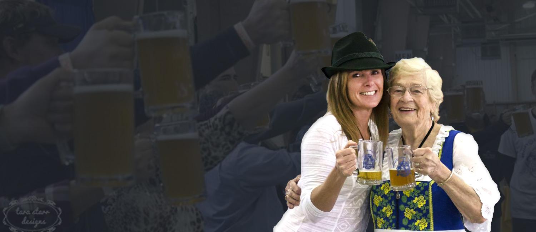 women enjoying beer at Carroll Oktoberfest